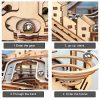 Robotime Puzzle In Legno Tagliato Al Laser Kit Modello Set Costruzione 3d Puzzle Gioca Waterwheel Coaster 0 2