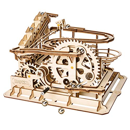 Robotime Puzzle In Legno Tagliato Al Laser Kit Modello Set Costruzione 3d Puzzle Gioca Waterwheel Coaster 0
