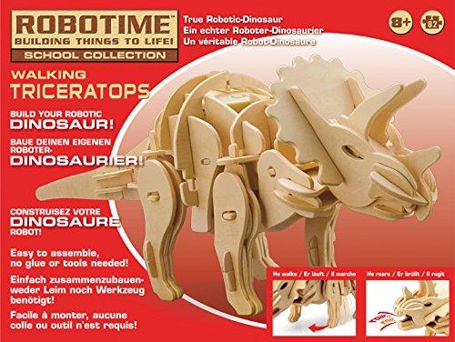 Robotime Rt9109 Triceratopo Kit Legno Con Sensori E Sonoro 0