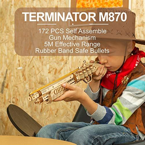 Robotime Toys Gun Kit Modello Di Edificio Meccanico Puzzle In Legno 3d Per Bambini Di 14 Anni Terminator M870 0 0