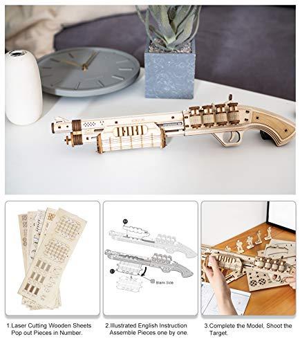 Robotime Toys Gun Kit Modello Di Edificio Meccanico Puzzle In Legno 3d Per Bambini Di 14 Anni Terminator M870 0 1