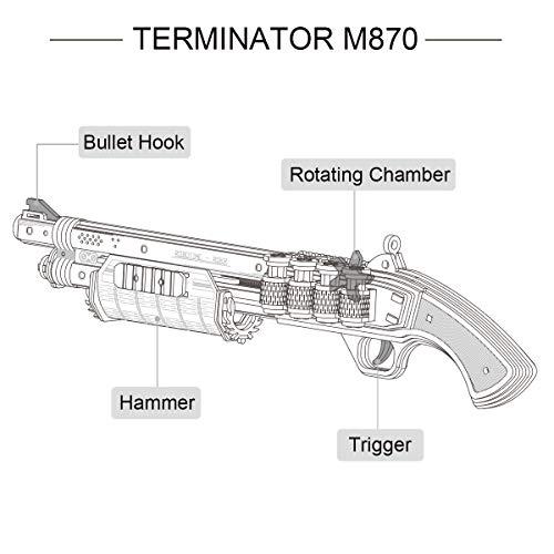 Robotime Toys Gun Kit Modello Di Edificio Meccanico Puzzle In Legno 3d Per Bambini Di 14 Anni Terminator M870 0 2