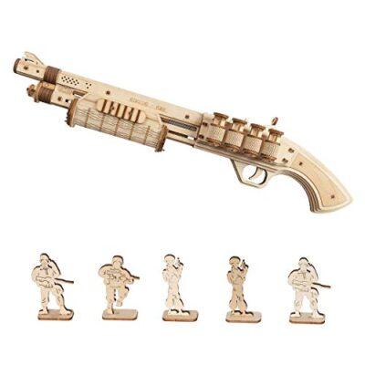 Robotime Toys Gun Kit Modello Di Edificio Meccanico Puzzle In Legno 3d Per Bambini Di 14 Anni Terminator M870 0