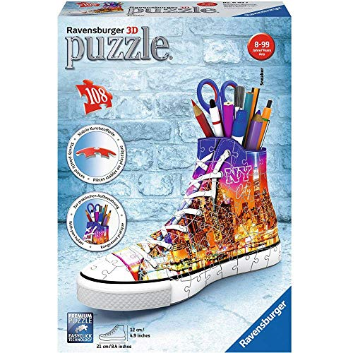 Sneaker Skyline 3d Puzzle 108 Teile Sonderformen Erlebe Puzzeln In Der 3 Dimension 0