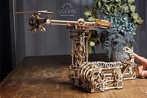 Ugears 3d Aviator Puzzle In Legno A Forma Di Aereo Ed Elicottero Torre Set Gioco Fai Da Te Rispettoso Dellambiente Per Adulti E Bambini Set Di Modellini In Legno Beige 0 0