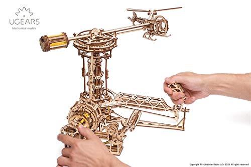 Ugears 3d Aviator Puzzle In Legno A Forma Di Aereo Ed Elicottero Torre Set Gioco Fai Da Te Rispettoso Dellambiente Per Adulti E Bambini Set Di Modellini In Legno Beige 0 5