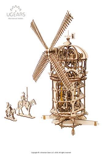 Ugears 3d Turm Windmhle Holzpuzzle Modellbau Set Denkspiel Diy Puzzle Lernspielzeug Umweltfreundlicher Holz Modellbausatz Fr Erwachsene Kinder Modellino In Legno Colore Beige 70055 0 0