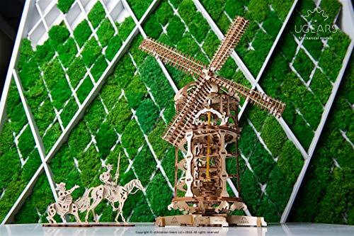 Ugears 3d Turm Windmhle Holzpuzzle Modellbau Set Denkspiel Diy Puzzle Lernspielzeug Umweltfreundlicher Holz Modellbausatz Fr Erwachsene Kinder Modellino In Legno Colore Beige 70055 0 4