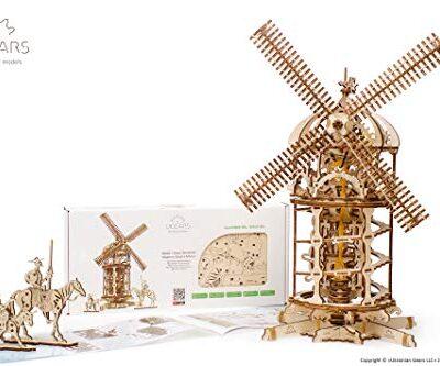 Ugears 3d Turm Windmhle Holzpuzzle Modellbau Set Denkspiel Diy Puzzle Lernspielzeug Umweltfreundlicher Holz Modellbausatz Fr Erwachsene Kinder Modellino In Legno Colore Beige 70055 0