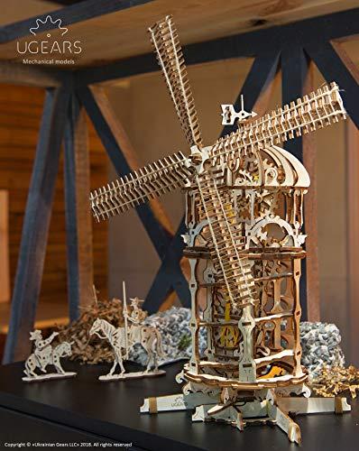 Ugears 3d Turm Windmhle Holzpuzzle Modellbau Set Denkspiel Diy Puzzle Lernspielzeug Umweltfreundlicher Holz Modellbausatz Fr Erwachsene Kinder Modellino In Legno Colore Beige 70055 0 5