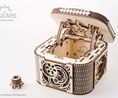 Ugears 70031 Scatola Portagioiecofanetto Kit In Legno 3d Senza Parti Incollate 0