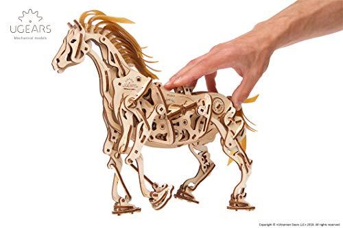 Ugears Cavallo Puzzle 3d Per Adulti Modellino Meccanico In Legno Rompicapo Da Costruire Kit Completo Per Adulti E Bambini Si Muove Davvero 0 0
