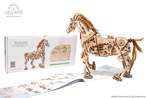 Ugears Cavallo Puzzle 3d Per Adulti Modellino Meccanico In Legno Rompicapo Da Costruire Kit Completo Per Adulti E Bambini Si Muove Davvero 0 1