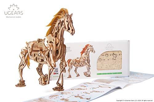 Ugears Cavallo Puzzle 3d Per Adulti Modellino Meccanico In Legno Rompicapo Da Costruire Kit Completo Per Adulti E Bambini Si Muove Davvero 0 2
