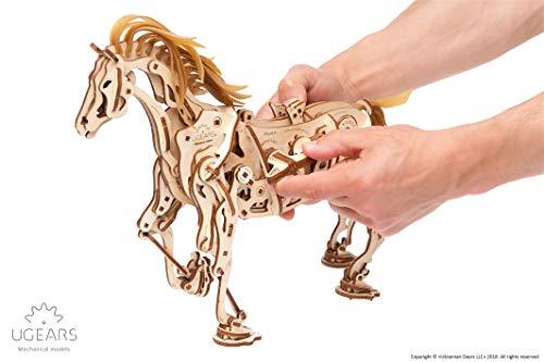 Ugears Cavallo Puzzle 3d Per Adulti Modellino Meccanico In Legno Rompicapo Da Costruire Kit Completo Per Adulti E Bambini Si Muove Davvero 0 3