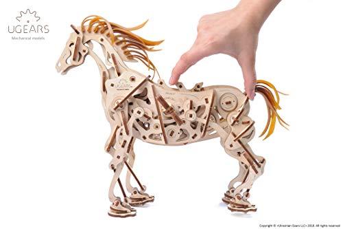 Ugears Cavallo Puzzle 3d Per Adulti Modellino Meccanico In Legno Rompicapo Da Costruire Kit Completo Per Adulti E Bambini Si Muove Davvero 0 4