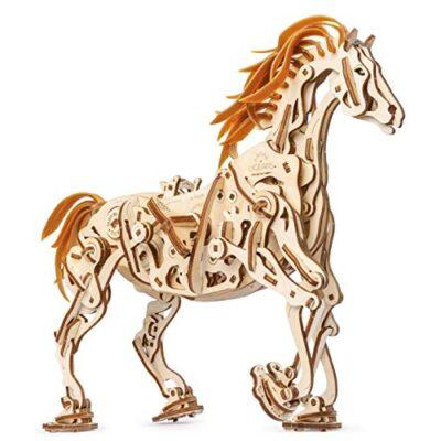Ugears Cavallo Puzzle 3d Per Adulti Modellino Meccanico In Legno Rompicapo Da Costruire Kit Completo Per Adulti E Bambini Si Muove Davvero 0