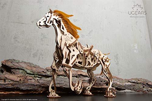 Ugears Cavallo Puzzle 3d Per Adulti Modellino Meccanico In Legno Rompicapo Da Costruire Kit Completo Per Adulti E Bambini Si Muove Davvero 0 5