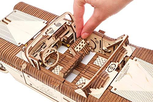 Ugears Dream Cabriolet Modellino Auto In Legno Puzzle 3d Per Adulti Modello Meccanico Rompicapo In Legno Per Adulti Kit Di Costruzione Giocattolo 0 4