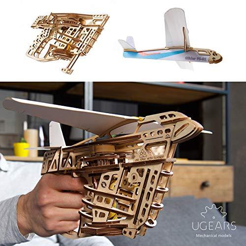 Ugears Flugzeug Starterrampe Modellbausatz Modellbauksten Fr Erwachsene Jugendliche Lasergeschnittener 3d Puzzle Di Legno Colore 0 0