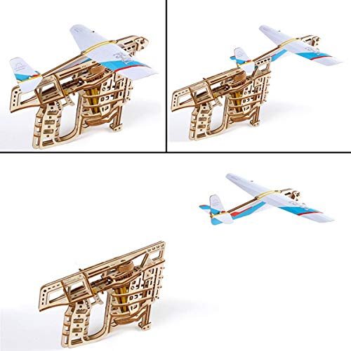 Ugears Flugzeug Starterrampe Modellbausatz Modellbauksten Fr Erwachsene Jugendliche Lasergeschnittener 3d Puzzle Di Legno Colore 0 1