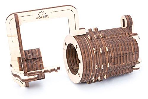 Ugears Il Lucchetto A Combinazione Gioco Modello Puzzle 3d Meccanico Da Costruire 0 1