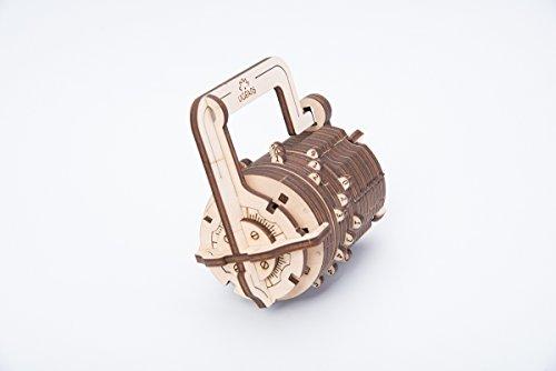 Ugears Il Lucchetto A Combinazione Gioco Modello Puzzle 3d Meccanico Da Costruire 0 2