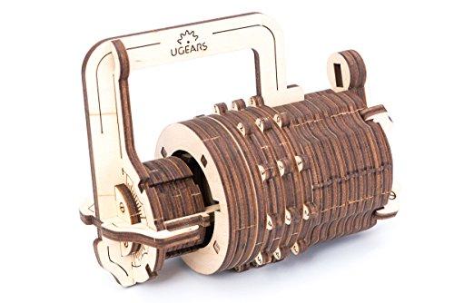 Ugears Il Lucchetto A Combinazione Gioco Modello Puzzle 3d Meccanico Da Costruire 0