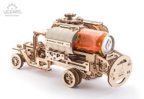 Ugears Kit Di Montaggio Per Camion Con Serbatoio Modello Meccanico In Legno Puzzle 3d 0 3