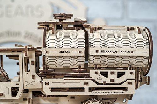 Ugears Kit Di Montaggio Per Camion Con Serbatoio Modello Meccanico In Legno Puzzle 3d 0 4