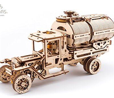 Ugears Kit Di Montaggio Per Camion Con Serbatoio Modello Meccanico In Legno Puzzle 3d 0
