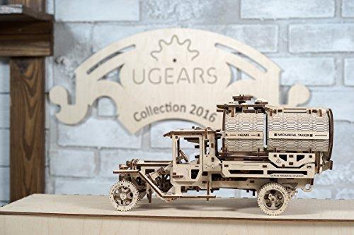 Ugears Kit Di Montaggio Per Camion Con Serbatoio Modello Meccanico In Legno Puzzle 3d 0 5