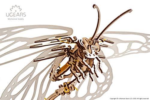 Ugears Kit Di Puzzle In Legno 3d Farfalla Puzzle Meccanico Per Adulti E Bambini Fai Da Te Kit Di Costruzione In Legno 3d Senza Colla Per Puzzle Per Adulti 3d In Legno Modellini In Legno 3d 0 2