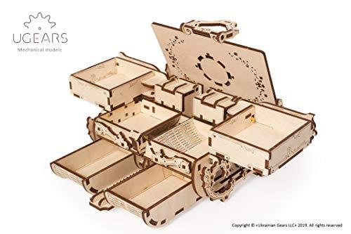 Ugears Kit Di Puzzle In Legno 3d Scatola Antica Puzzle Meccanico Per Adulti E Bambini Fai Da Te Kit Di Costruzione In Legno 3d Original Gioielli Cofanetto Puzzle Per Modellini In Legno 3d 0 2