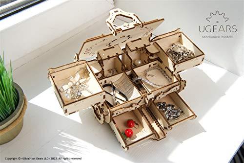 Ugears Kit Di Puzzle In Legno 3d Scatola Antica Puzzle Meccanico Per Adulti E Bambini Fai Da Te Kit Di Costruzione In Legno 3d Original Gioielli Cofanetto Puzzle Per Modellini In Legno 3d 0 5