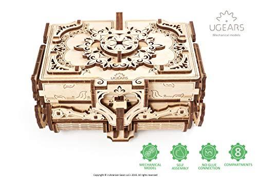 Ugears Kit Di Puzzle In Legno 3d Scatola Antica Puzzle Meccanico Per Adulti E Bambini Fai Da Te Kit Di Costruzione In Legno 3d Original Gioielli Cofanetto Puzzle Per Modellini In Legno 3d 0