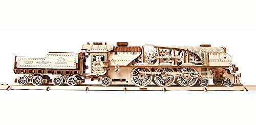 Ugears Modello Di Treno In Legno 3d Locomotiva Tender Binari Meccanico Puzzle Per Adulti Rompicapo Da Costruire Da Collezionare 0 2