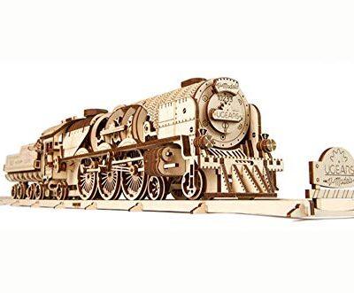 Ugears Modello Di Treno In Legno 3d Locomotiva Tender Binari Meccanico Puzzle Per Adulti Rompicapo Da Costruire Da Collezionare 0