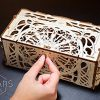 Ugears Porta Carte Da Gioco Card Holder Puzzle 3d Rompicapo Legno Fai Da Te Scatola Cofanetto Supporto Per 12 Mazzi Carte Per Giochi Di Tavolo 0 0
