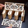 Ugears Porta Carte Da Gioco Card Holder Puzzle 3d Rompicapo Legno Fai Da Te Scatola Cofanetto Supporto Per 12 Mazzi Carte Per Giochi Di Tavolo 0 2