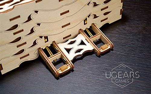 Ugears Porta Carte Da Gioco Card Holder Puzzle 3d Rompicapo Legno Fai Da Te Scatola Cofanetto Supporto Per 12 Mazzi Carte Per Giochi Di Tavolo 0 5