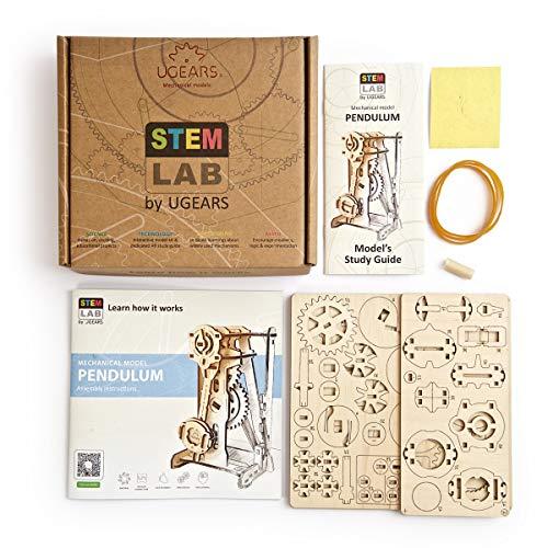 Ugears Stem Lab Puzzle 3d Giocattolo Stem Kit Di Costruzione In Legno Modellini Da Costruire Per Adulti Giocattoli Di Ingegneria Fai Da Te Con App Puzzle Per Adulti E Bambini 8 Pendolo 0 5