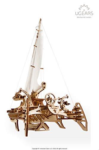 Ugears Trimarano A Vela Merihobus Modello In Legno 3d Puzzle Per Adulti Modello Meccanico Rompicapo Da Costruire Da Collezionare 0 1