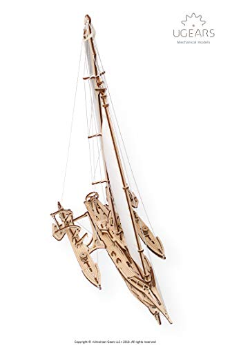 Ugears Trimarano A Vela Merihobus Modello In Legno 3d Puzzle Per Adulti Modello Meccanico Rompicapo Da Costruire Da Collezionare 0 2