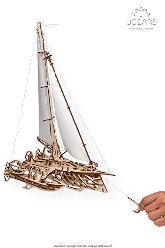 Ugears Trimarano A Vela Merihobus Modello In Legno 3d Puzzle Per Adulti Modello Meccanico Rompicapo Da Costruire Da Collezionare 0 4