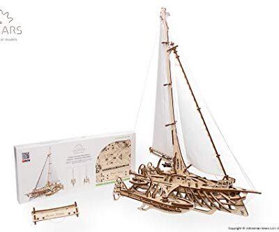 Ugears Trimarano A Vela Merihobus Modello In Legno 3d Puzzle Per Adulti Modello Meccanico Rompicapo Da Costruire Da Collezionare 0