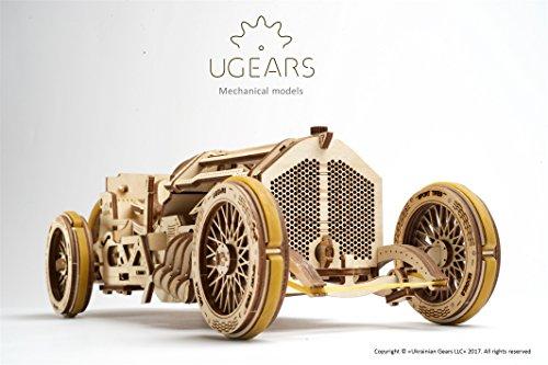 Ugears U 9 Grand Prix Auto Modello In Legno Set Di Costruzione Meccanica Macchina Da Corsa 0 1