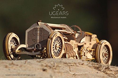 Ugears U 9 Grand Prix Auto Modello In Legno Set Di Costruzione Meccanica Macchina Da Corsa 0 3