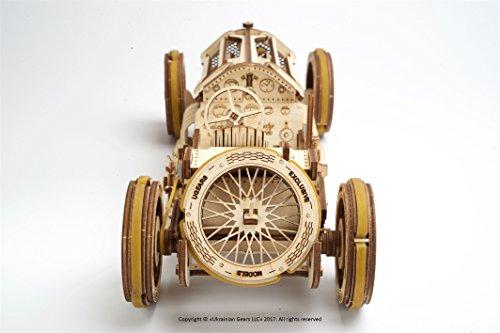 Ugears U 9 Grand Prix Auto Modello In Legno Set Di Costruzione Meccanica Macchina Da Corsa 0 4