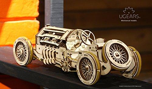Ugears U 9 Grand Prix Auto Modello In Legno Set Di Costruzione Meccanica Macchina Da Corsa 0 5